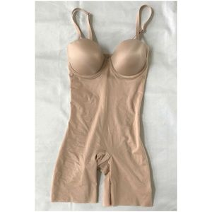 Spanx Womens Bodysuit Color Beige Size Medium